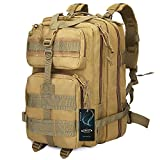 G4Free 40L Sport Outdoor military backpack tactical backpack Molle Backpack military rucksack Camping Hiking Trekking Bag Custom Design (Tan)