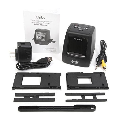 jumbl 22mp all in 1 film slide scanner w speed load adapters for 35mm negative slides 110. Black Bedroom Furniture Sets. Home Design Ideas