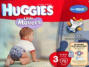 Huggies Little Movers Diapers Limited Edition Camo ~ Size 3 ~ 72 Count