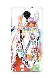 Amez designer printed 3d premium high quality back case cover for Micromax Canvas Xpress 2 E313 (Horse White)