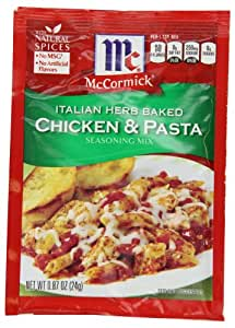 Mccormick Seasoning Mix, Italian Herb Baked Chicken and Pasta, 0.87-Ounce (Pack of 12)