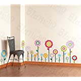 Flower Lollipop-1 - Wall Decals Stickers Appliques Home Decorby Hemu Wall Sticker