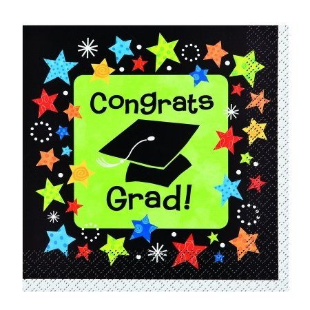 Unique 202229 Grad Stars Graduation Beverage Napkins