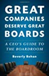 Great Companies Deserve Great Boards:...