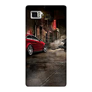 Red Car Impact Multicolor Back Case Cover for Vibe Z2 Pro K920