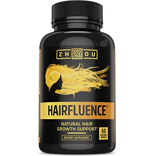 HAIRFLUENCE-All-Natural-Hair-Growth-Formula-For-Longer-Stronger-Healthier-Hair-Scientifically-Formulated-with-Biotin-Keratin-Bamboo-More-For-All-Hair-Types-Veggie-Capsules