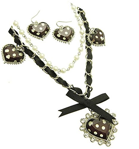 Trendy-Victorian-Inspired-Polka-Dot-Hearts-Ribbons-Faux-Pearls-Layered-Necklace-and-Earrings-Set