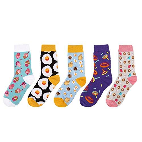 Zmart Women's Fashion Cotton Dessert Pattern Crew Scoks A0727WS011,Multicolouredm,One Size,Multicolouredm,One Size (Funny Socks Pack compare prices)