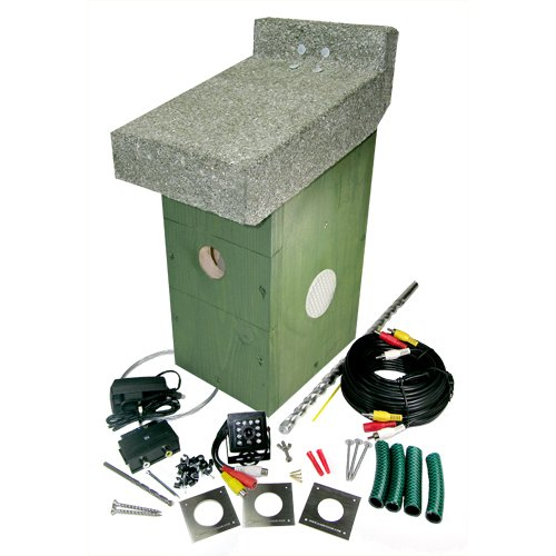 Bird box camera system - Pine box, high resolution colour camera, 20m cable