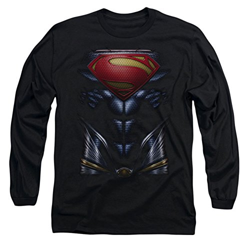 MAN OF STEEL/MOS COSTUME - L/S ADULT 18/1 - BLACK