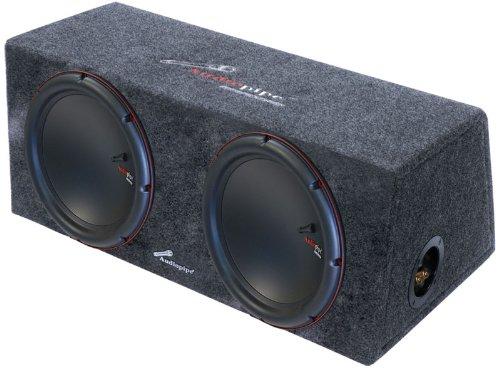 "Audiopipe Apsb110Et Dual 10"" 1000 Watt Sealed Car Subwoofer Enclosure"
