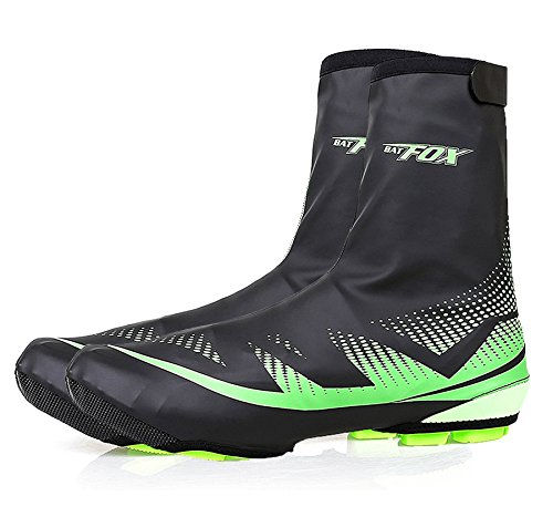 Cycling Shoe Covers, Basecamp Outdoor Sports Bike Shoe Covers Waterproof Warmer Overshoes Shoe Booties Cover for Men Women MTB Winter Rain Cycling Bicycle Cycle Mountain Road Toe Cover (Green) (Bike Shoe Covers compare prices)
