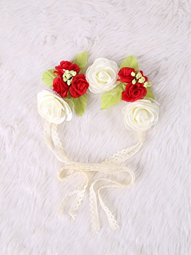 Festival Boho Hippy Hair Head Band/ Rose Crown/Bohemian style (RedRose) (Wedding Favor Sunflower Seeds compare prices)