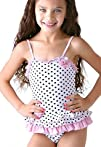 New Kate Mack Girls Polka Dot Swimsuit Swimwear Size 2t-6X 6