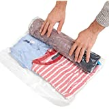 Travis Travel Gear Space Saver Bags. No Vacuum Rolling Compression, Pack of 8