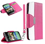 myLife Faux Leather Slim Wallet - Pink and White