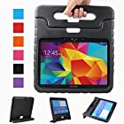 Samsung Galaxy Tab 4 10.1 Kids Case - BMOUO EVA Light Weight Shock Proof Case Convertible Handle Stand Kids Children Case Friendly for Samsung Tab4 & Tab 3 10.1-Inch Tablet, Black Color