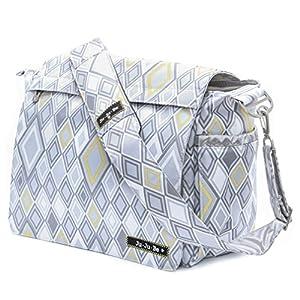 Bundle -3 Items:Ju-Ju-Be Better Be Messenger Diaper Bag -Silver Ice & Bella B Honey Bum 2 oz & Bella B Babywipes 50 count from Ju-Ju-Be + Bella B