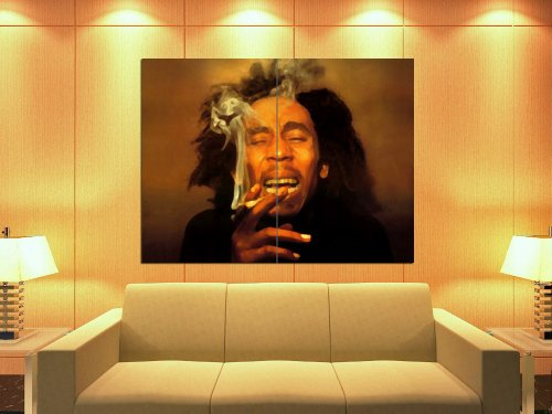 Bob Marley Painting Reggae Singer Music Art 47x35 Huge Giant Print Poster (Bob Marley Painting compare prices)