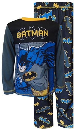 Dc Comics Batman Classic Cartoon Pajama For Boys (8) front-454526