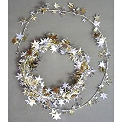 Star Wire Garland Gold/Silver - 12' (1 per package)