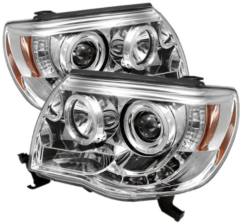 Spyder Auto PRO-YD-TT05-HL-C Toyota Tacoma Chrome Halo LED Projector Headlight with Replaceable LEDs (Projector Chrome Headlight compare prices)