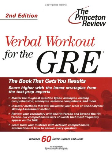 Verbal Workout for the GRE, 2nd Edition (Graduate School Test Preparation)