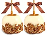 Gourmet Caramel Apples - Chocolate Dunked and Candy Coated Gifts, Set of 2 Dark Chocolate Cherry
