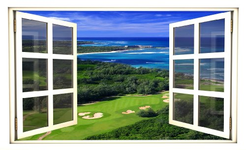 Window Scape Instant View Golf Course Ocean