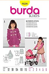 Burda Kids Sewing Pattern 9538 for Child\'s Coordinates, Sizes 2 - 6 by Burda