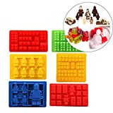 Gwogo® Minifigure Silicone Ice Tray Candy Chocolate Mold - For Lego Lovers (6 Pcs)