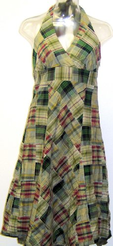 Esprit Madras Women's Vintage Halter Dress