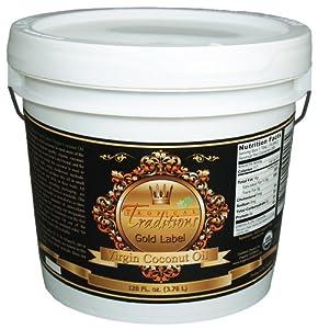 Tropical Traditions Organic Virgin Coconut Oil - Gold Label 1 Gallon