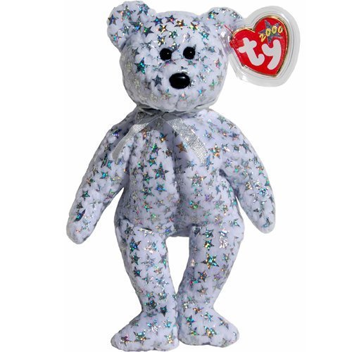 Ty Beanie Babies - Beginning the Irridescent Star Studded Teddy Bear