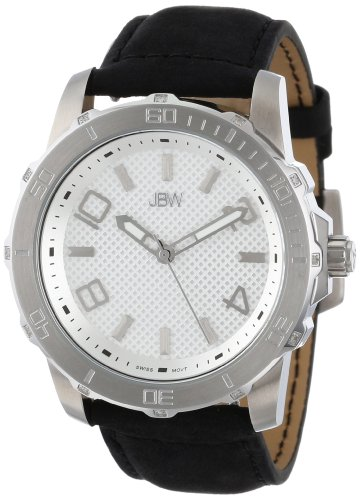 JBW Men's J6281-setC Stainless Steel Diamond-Accented Watch Set with Two Interchangeable Straps