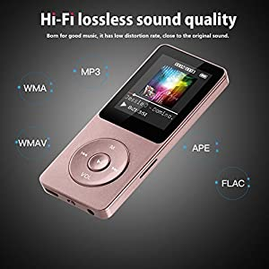 AGPTEK 8GB MP3 Player FM Radio/Voice Recorder,Music Player 70 Hours Playback & Supports up to 128GB, Rose Gold(A02) (Color: Rose Gold)