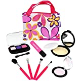 Click N Play Pretend Play Cosmetic And Makeup Set With Floral Tote Bag