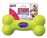 KONG Air Dog Squeaker Bone Dog Toy, Large, Yellow