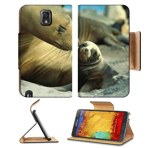 Fur Seals Baby Care Tenderness Samsung Galaxy Note 3 N9000 Flip Case Stand Magnetic Cover Open Ports Customized Made To Order Support Ready Premium Deluxe Pu Leather 5 15/16 Inch (150Mm) X 3 1/2 Inch (89Mm) X 9/16 Inch (14Mm) Liil Note Cover Professional front-576250