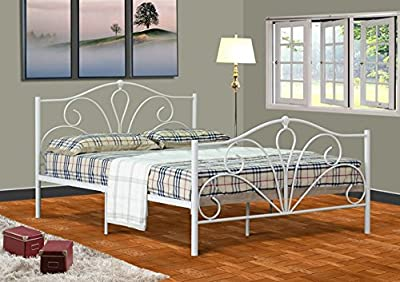 Emmie 4ft6 Double Metal Bed Frame, Bedstead in Cream