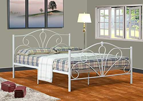 Unique Buy Cheap Emmie ft Small Double Metal Bed Frame Bedstead in Cream With KERRI Mattress