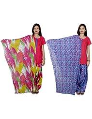Indistar Women's Cotton Patiala Salwar With Dupatta Combo (Pack Of 2 Salwar With Dupatta) - B01HROG47O