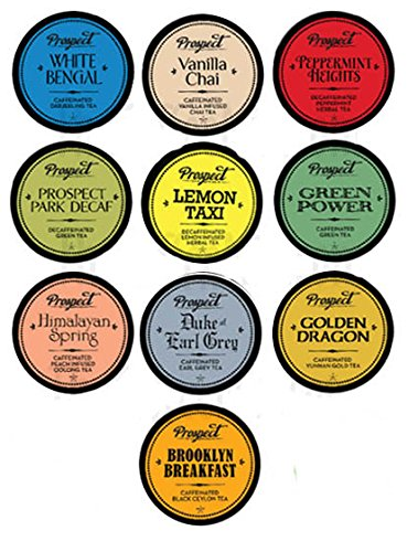 New! 10 Keurig K-cup Prospect Tea Sampler - 10 Unique Tea Varieties! (Taxi Chai Keurig compare prices)