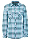 Marisota Mint Green White & Black Long Sleeve Checked Check Shirt Blouse Tunic Size 12 to Plus Size 30 (14)