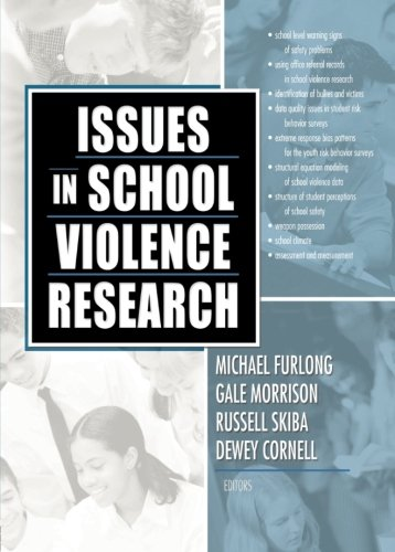 Issues In School Violence Research (Monograph Published Simultaneously As The Journal Of School) front-789972