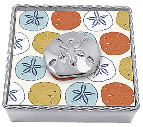 Mariposa Twisted Napkin Holder Sand Dollar Weight