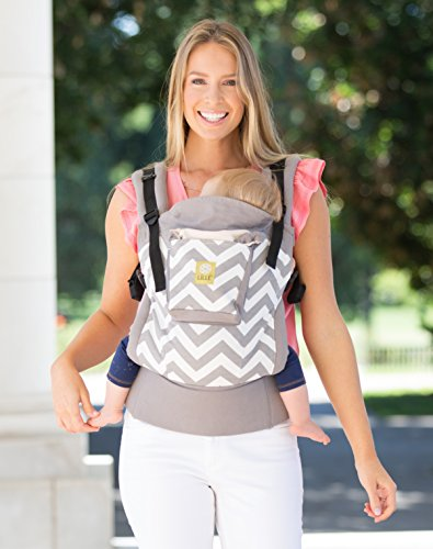 LILLEbaby 4 in 1 ESSENTIALS Baby Carrier - Grey Chevron