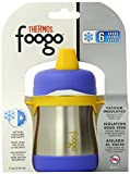 Thermos FOOGO Phases Stainless Steel Sippy Cup, 7 Ounce, Blue/Yellow