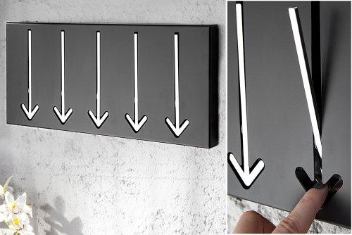 Design-Wandgarderobe-ARROW-5er-schwarz-Garderobe