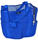 Deluxe Premium Oversized Mesh Family XL Beach Tote / Whale Bag w Carabiner Hook